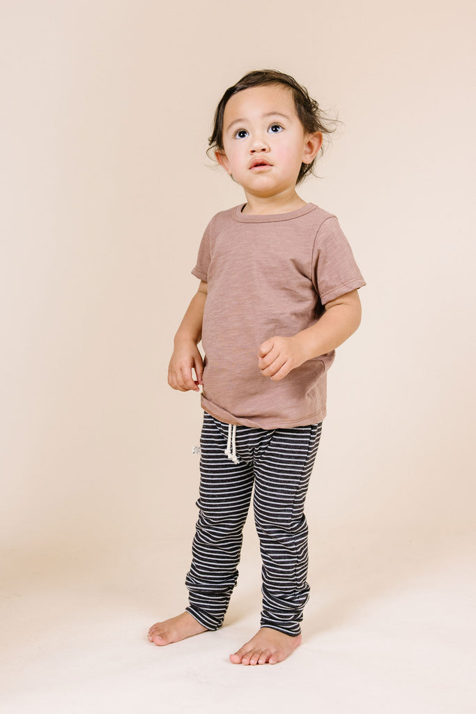 gusset pants - onyx stripe