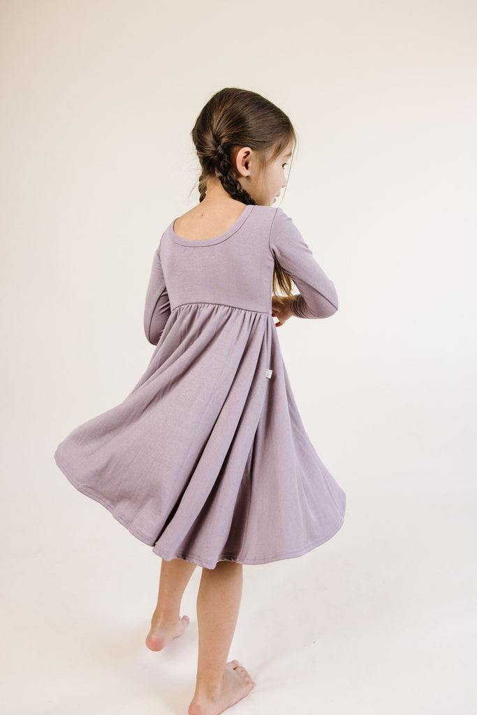 long sleeve swing dress - thistle