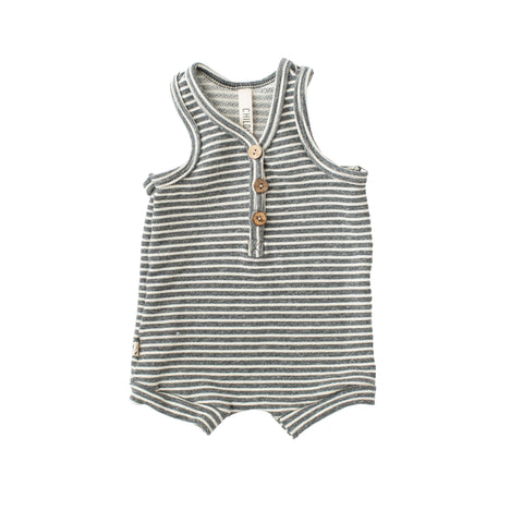 short tank romper - heather gray inverse