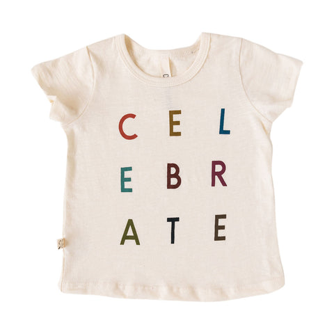 basic tee - celebrate on natural