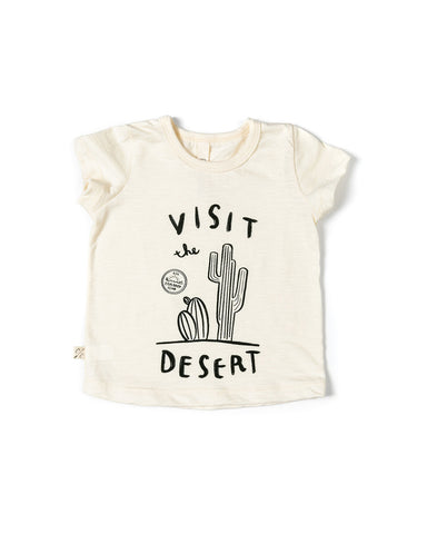 basic tee - desert postcard on natural