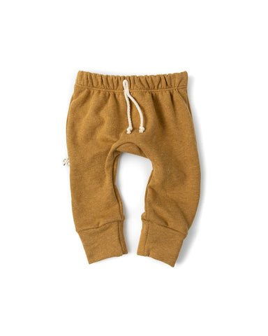 gusset pants - wheat