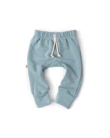 gusset pants - dusty blue