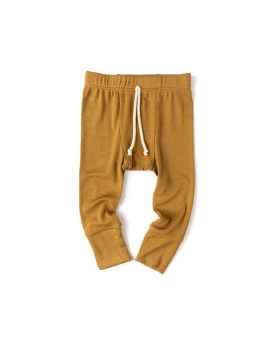 rib knit pant - wheat
