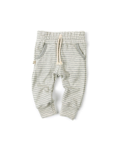 jogger - medium gray stripe