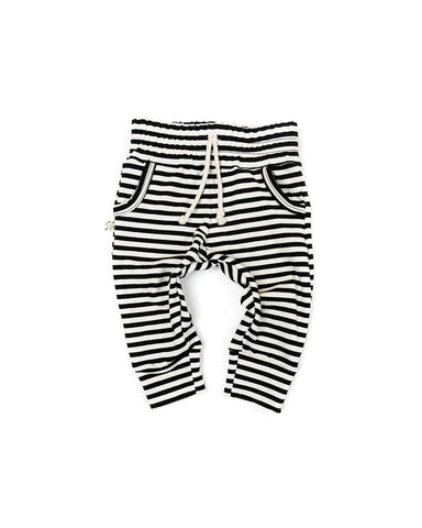 jogger - black stripe