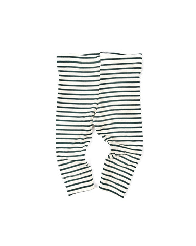leggings - hunter green stripe