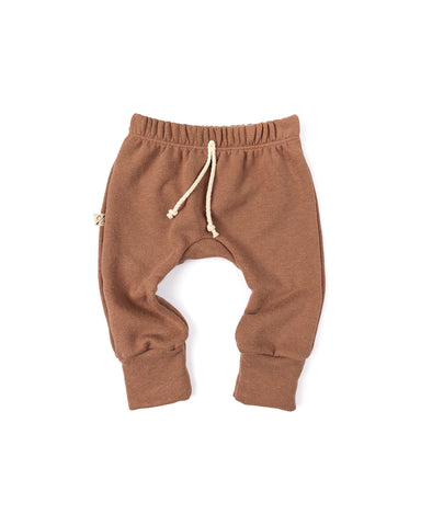 gusset pants - milk chocolate