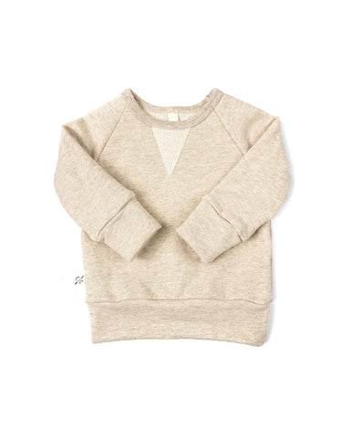 pullover crew - oatmeal