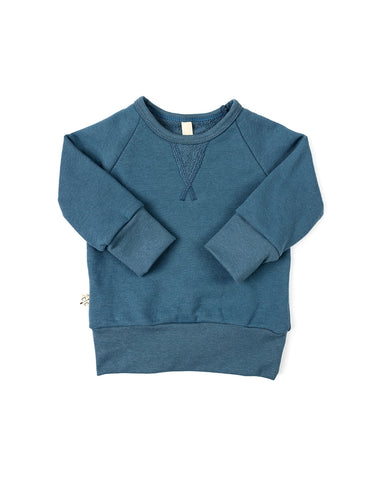 pullover crew - pigeon blue