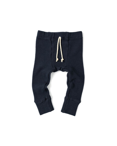 waffle knit bottoms - passport blue