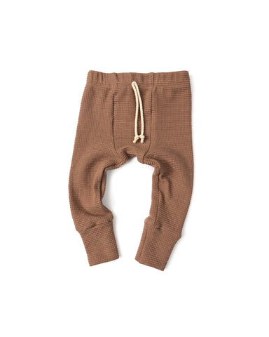 waffle knit bottoms - milk chocolate