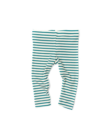 leggings - aqua stripe