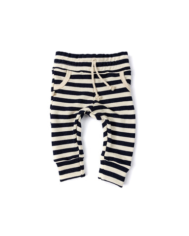 jogger - navy and cream stripe