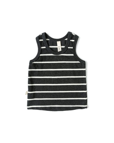 tank top - obsidian stripe