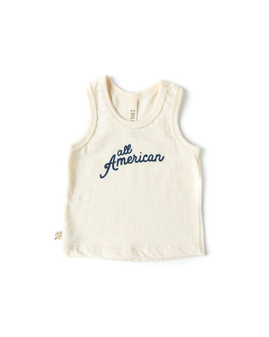 tank top - all american on natural