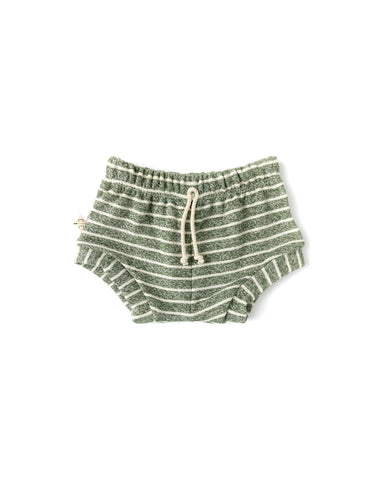 shorties - heather olive stripe