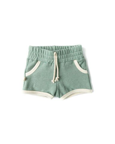 french terry retro short - tea