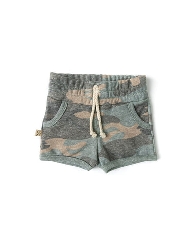 french terry retro short - faded camo  [please read sizing note]