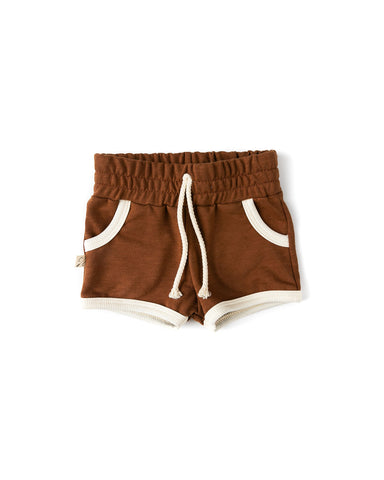 retro short - cognac