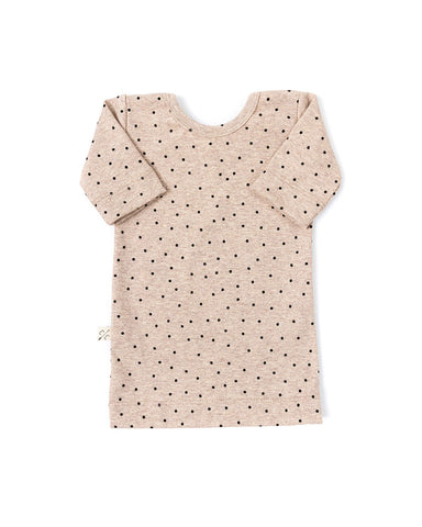 ballet top - dots on fawn