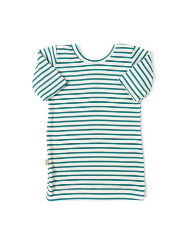ballet top - aqua stripe