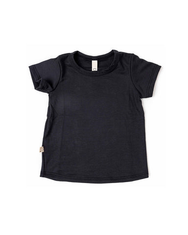 rib knit tee - midnight 1x1