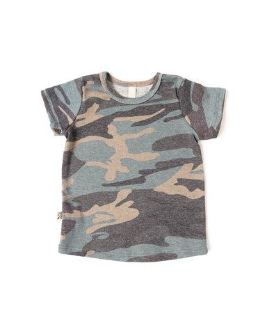 rib knit tee - faded camo [please read sizing note]