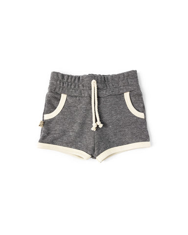 french terry retro short - athletic gray