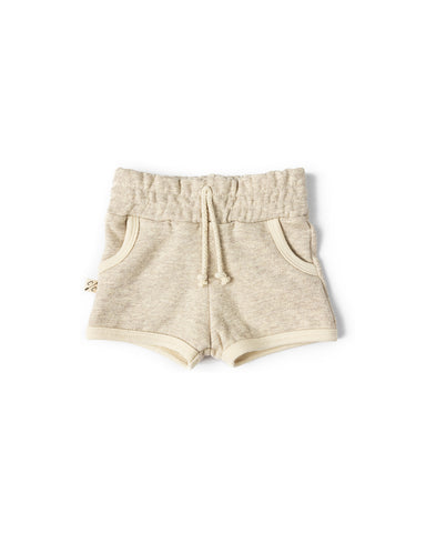 french terry retro short - oatmeal