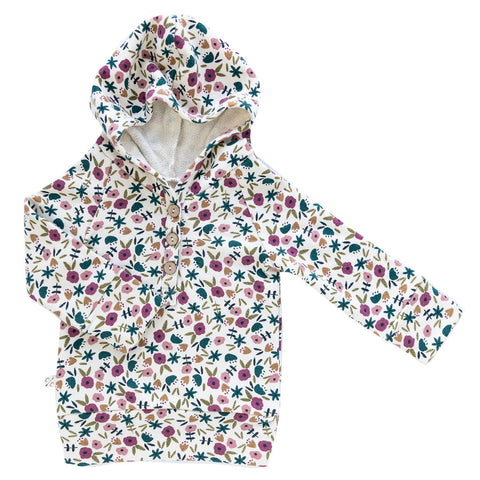 henley hoodie in 'fall ditsy floral'