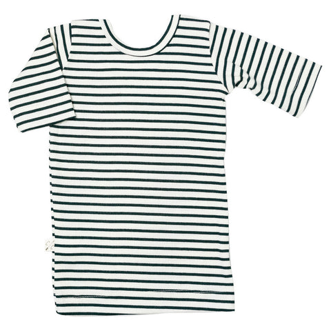 ballet top - hunter green stripe
