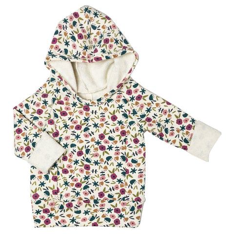 beach hoodie - fall ditsy floral