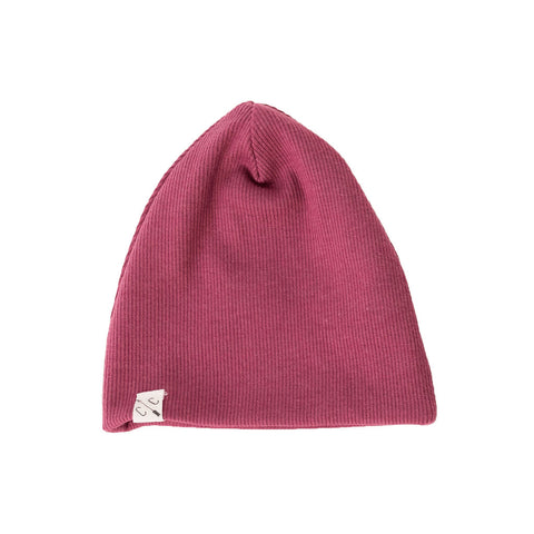 slouch beanie in 'sangria'