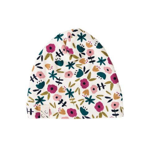 slouch beanie - fall ditsy floral