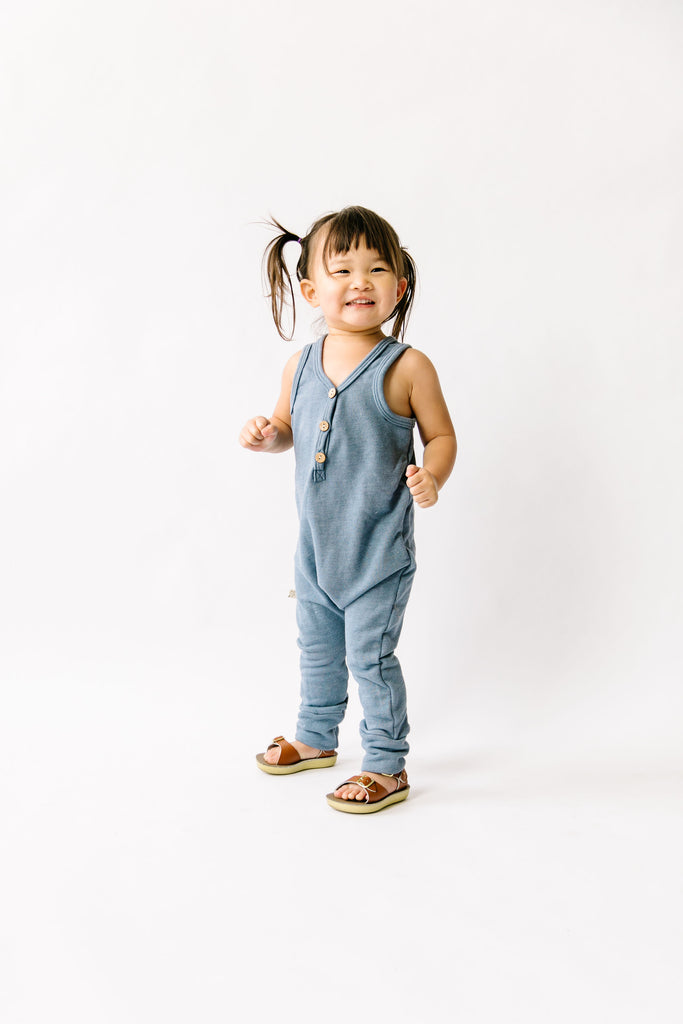 tank romper in 'steel blue'