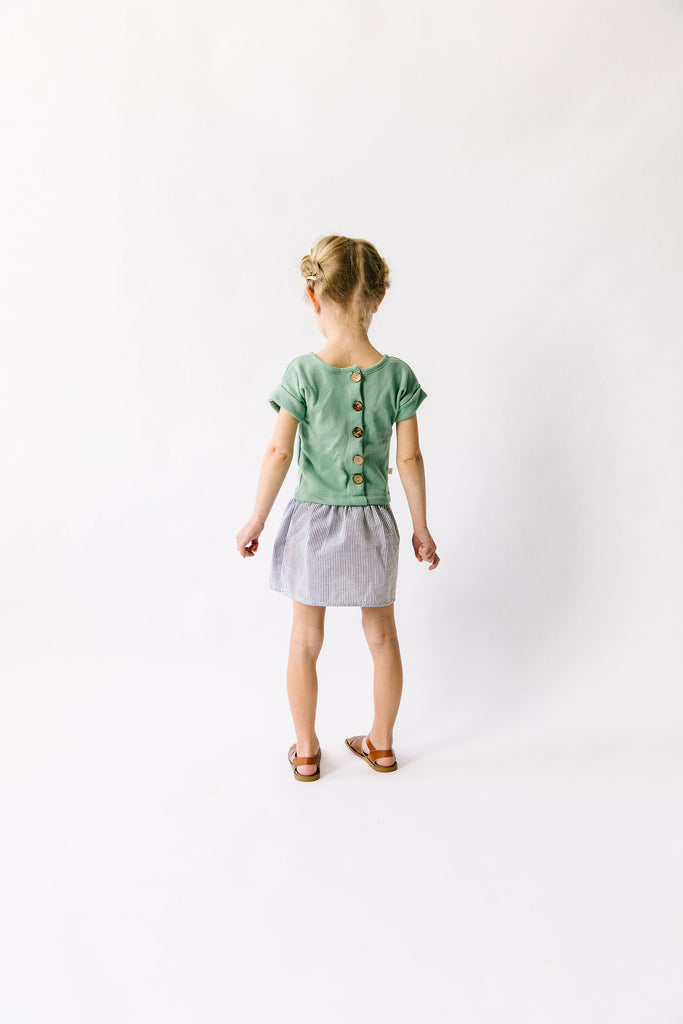 two-tone dress in 'spring green'