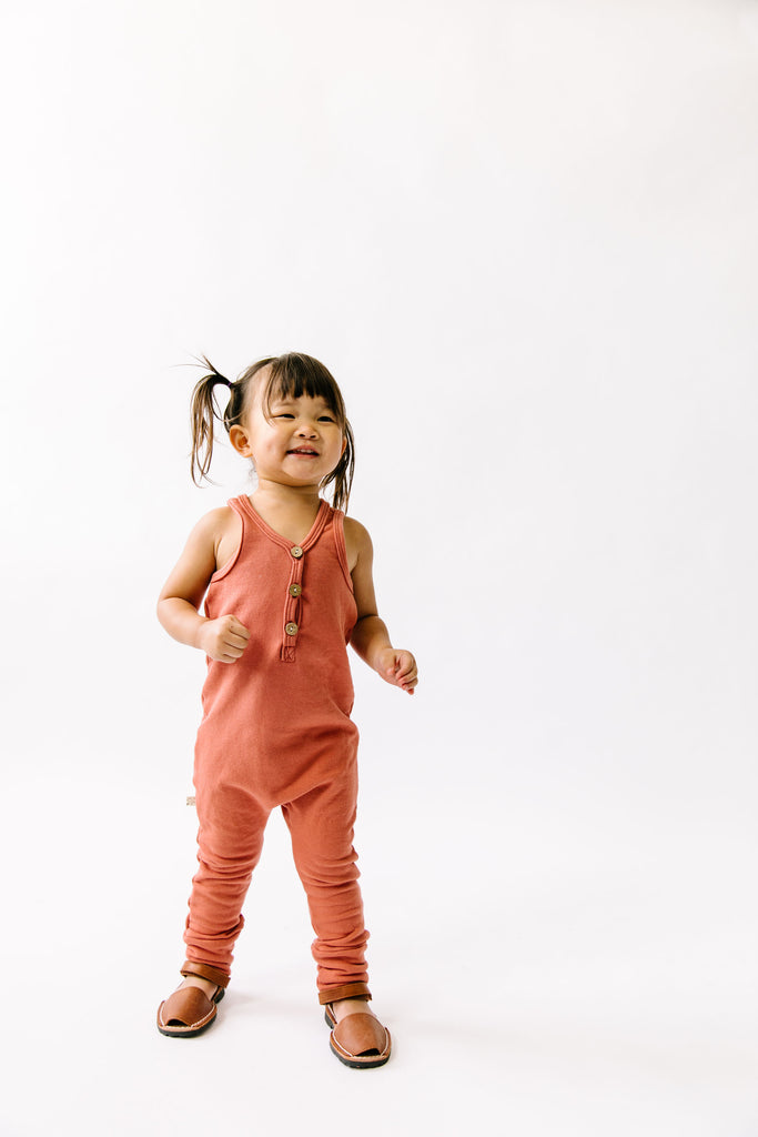 tank romper - faded red