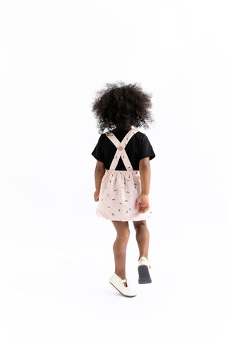 suspender skirt in 'mustard'