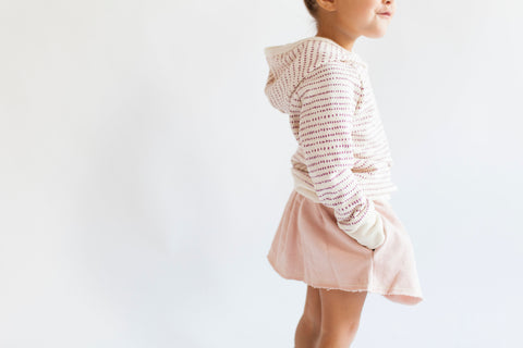 pocket skirt in 'blush' [size down]