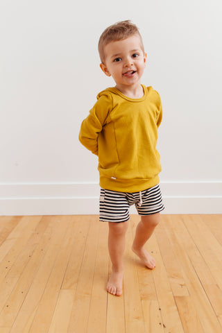 boy shorts - black stripe