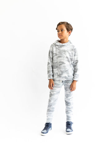 trademark raglan hoodie in 'arctic camo' [please read sizing note]