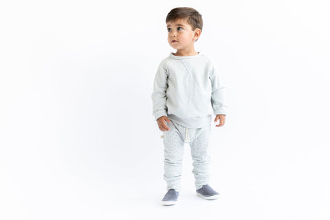 gusset pants in 'sprinkle on gray'