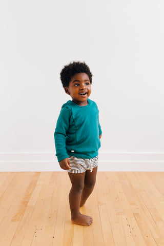 shorties in 'narrow natural stripe'