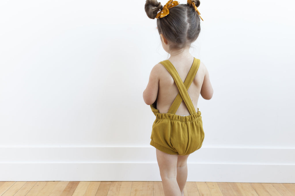 romper shortie in 'chartreuse'