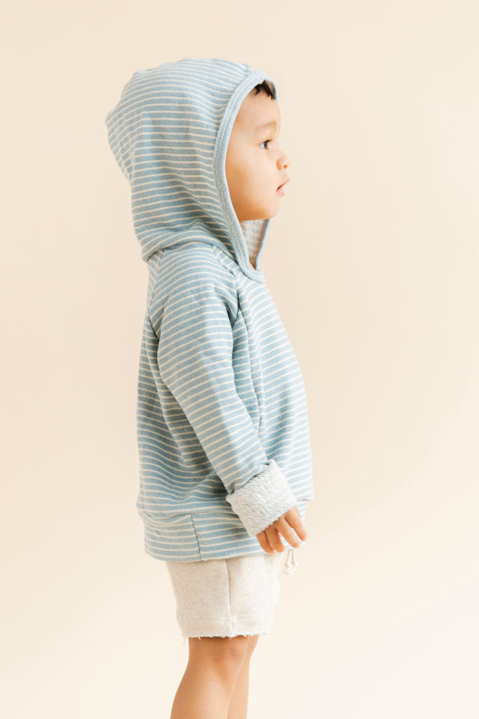 beach hoodie in 'echo stripe'