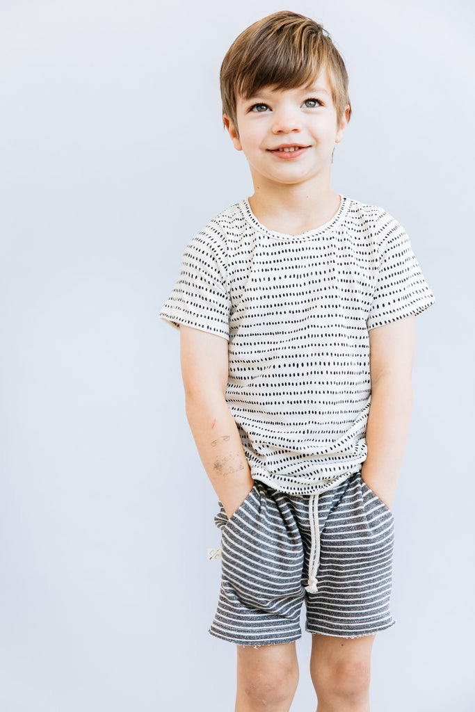 boy shorts in 'coal stripe'