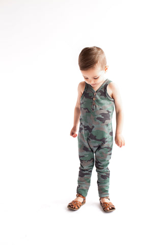 tank romper in 'camo' [please read sizing note]