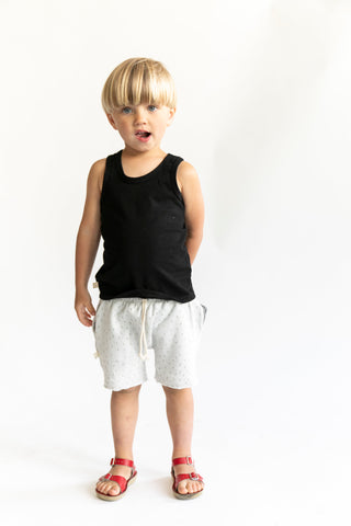 boy shorts in 'sprinkle on gray'