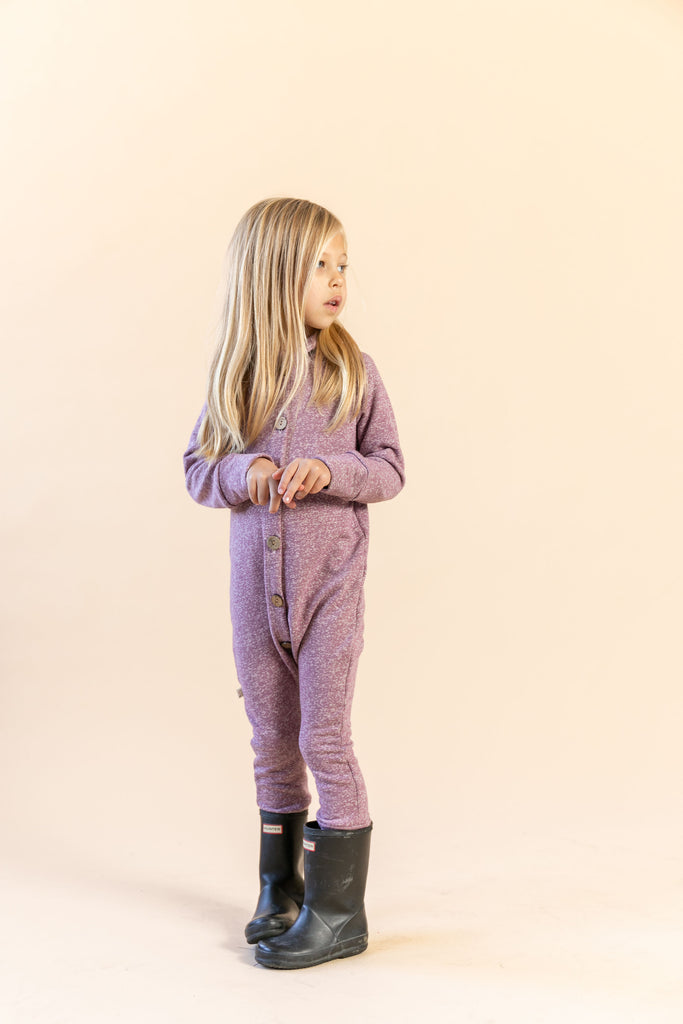 hooded romper in 'gumdrop'